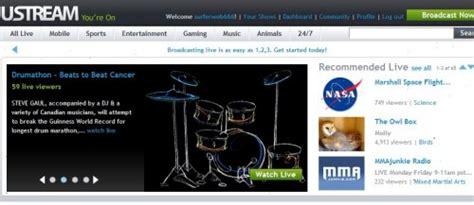 Ustream.com: Transmisiones online gratis