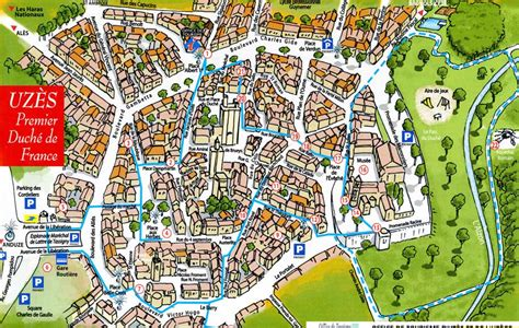 Uzès Town Map, by Provence Beyond