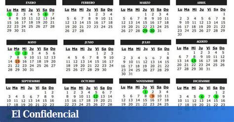Vacaciones: Calendario laboral 2018 para Madrid: todos los ...