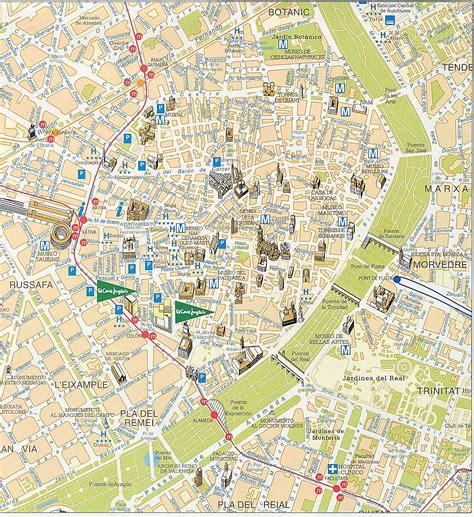 Valencia - plan de la ciudad | Mapas imprimidos de ...