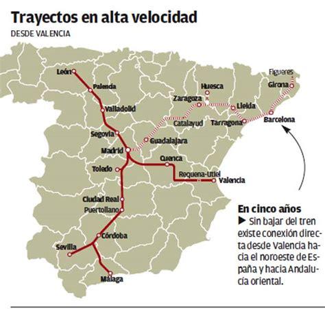 Valencia ya tiene conexión directa en AVE con diez ...