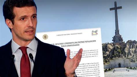 Valle de los caídos: La familia Franco pide a Pablo Casado ...