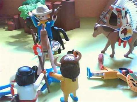 Vaqueros vs. Indios  Con Playmobil    YouTube