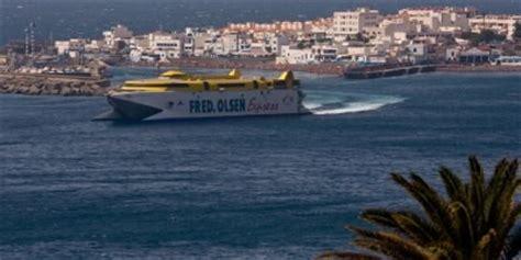 Varada técnica del barco de alta velocidad Bencomo Express