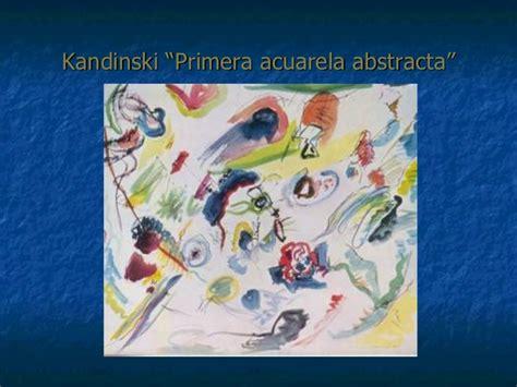 vasily kandinsky primera acuarela abstracta abstraccion lirica