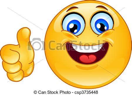 Vecteur de Emoticon, OK   pouce, haut, Emoticon csp3735448 ...
