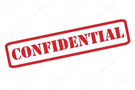 vector  confidencial  sello rojo sobre un fondo blanco ...
