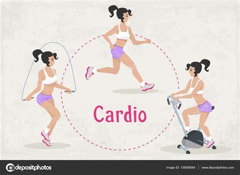 Vector conjunto de ejercicios de entrenamiento de Cardio ...