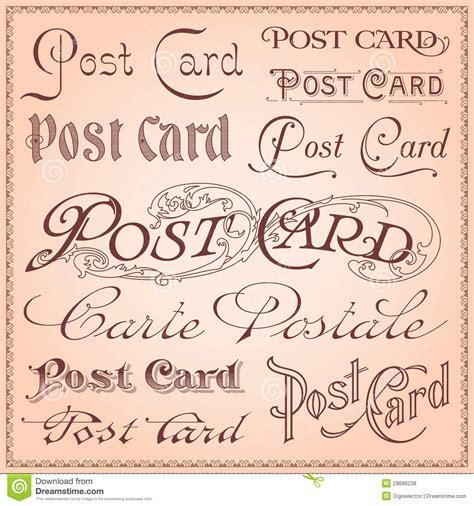 Vector De Las Letras De La Postal Del Vintage Ilustración ...