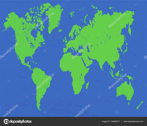 vector de mapa mundo 2D — Vector de stock © photo_stella ...