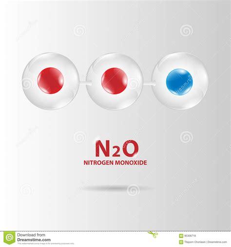 Vector Del Modelo De La Molécula Del Monóxido De Nitrógeno ...