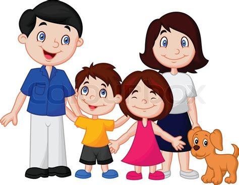 Vector illustration of Happy family cartoon   Stock Vector ...