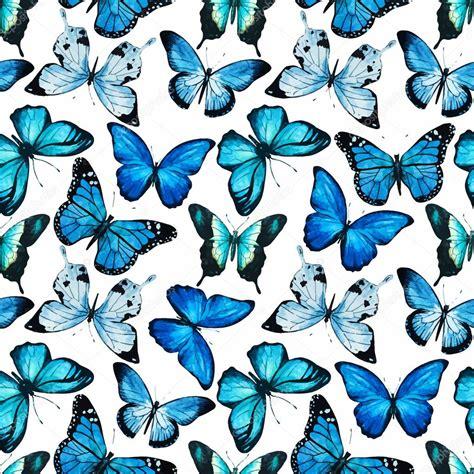 Vector patrón de mariposa acuarela — Archivo Imágenes ...