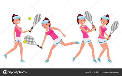 Vector: tenis femenino | Vector de jugador de tenis ...