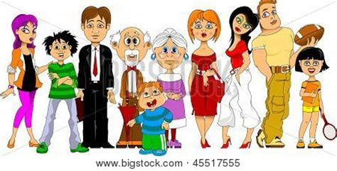 Vector y foto Familia Numerosa | Bigstock