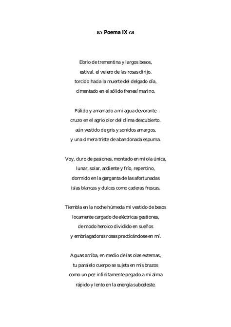-Veinte poemas de amor y una canción desesperada