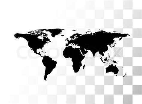 Vektor-schwarz-Weltkarte | Vektorgrafik | Colourbox