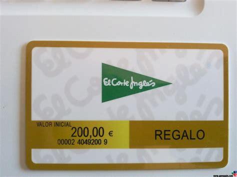 [VENDO] tarjeta del corte ingles de200 € por 180