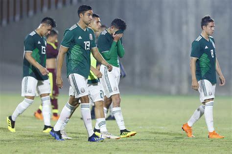 Venezuela sorprende al Tri en futbol de Barranquilla 2018