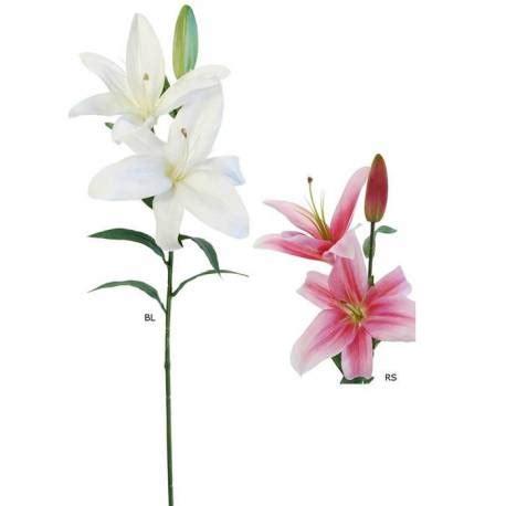 Venta online flores artificiales lilium dos flores y un ...