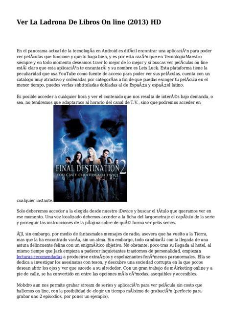 Ver La Ladrona De Libros On line  2013  HD