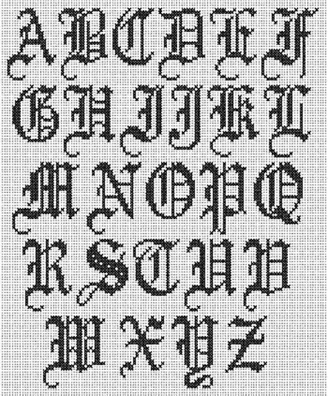 Ver Letras Goticas Abecedario