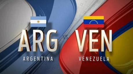 Ver Partido Argentina vs Venezuela EN VIVO Gratis Por ...