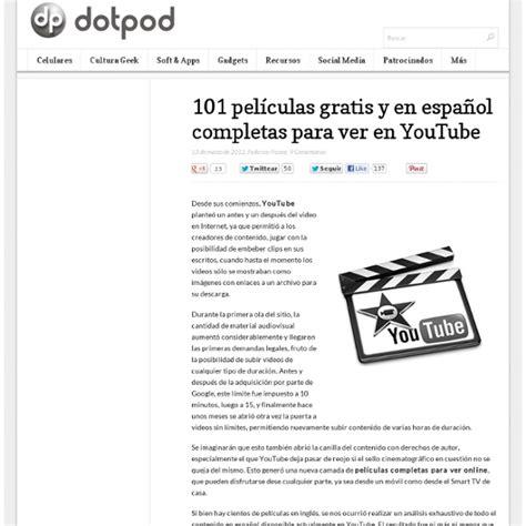 Ver Peliculas Online Gratis En Espanol Completas Youtube ...