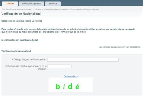Verificación de Expedientes de Nacionalidad Española por ...