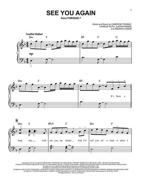 Very Easy Popular Piano Sheet Music - sheet music ...