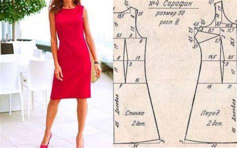Vestido elegante sencillo con patrones de medidas ...