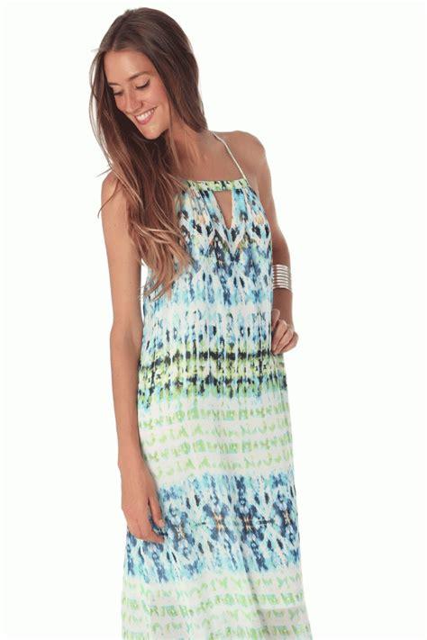 Vestido largo de verano estilo hippie con estampado efecto ...
