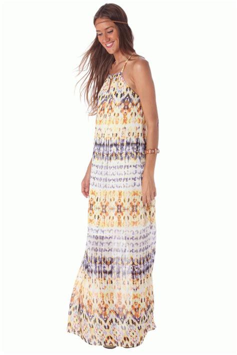 Vestido largo de verano estilo hippie de q2