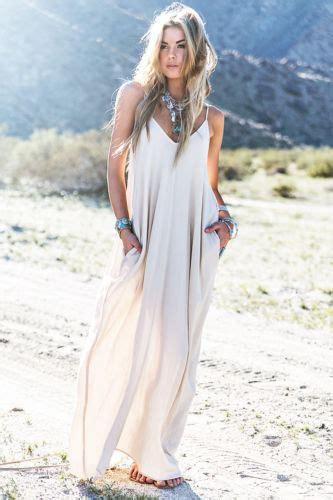 vestidos blancos largos hippies