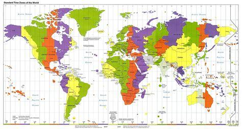 Viajar sin viajar: MAPA del Mundo y Husos horarios