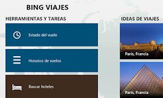 Viajes Bing app windows 8 | Datos Vuelos   viajar barato ...