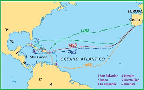 Viajes de cristobal colon a america - Imagui