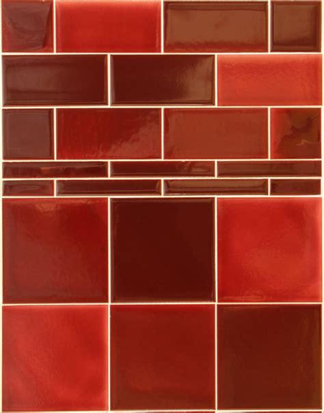 Victorian Dark Red Wall Tiles