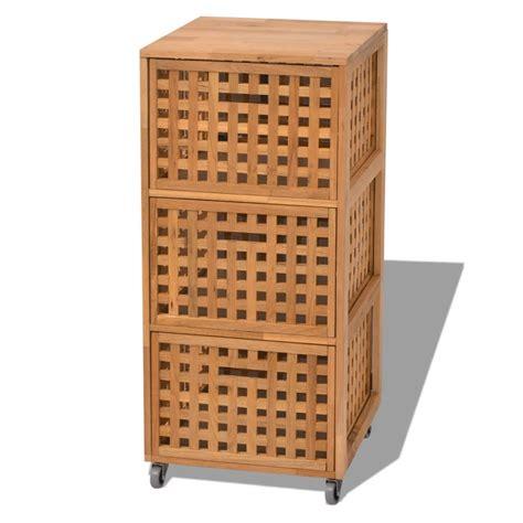 vidaXL Armario de cuarto de baño 41x41x93 cm madera maciza ...