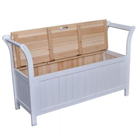 vidaXL.co.uk | vidaXL Storage Bench 126x42x75 cm Wood White