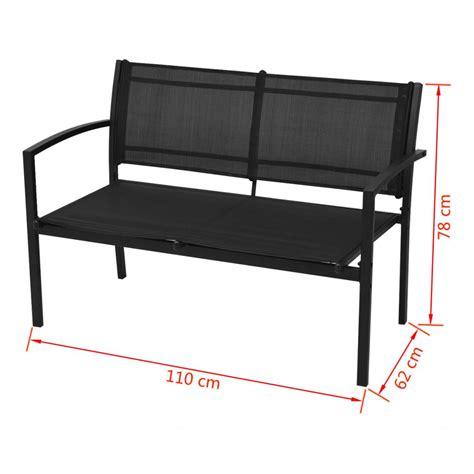 vidaXL Conjunto de muebles de jardín 4 piezas con banco ...