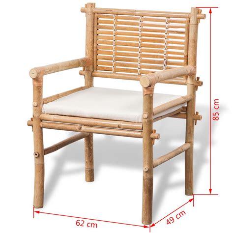 vidaXL Conjunto de muebles de jardín de bambú 5 piezas ...