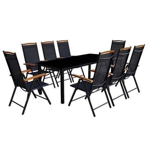vidaXL Conjunto de muebles de jardín en aluminio 9 piezas ...