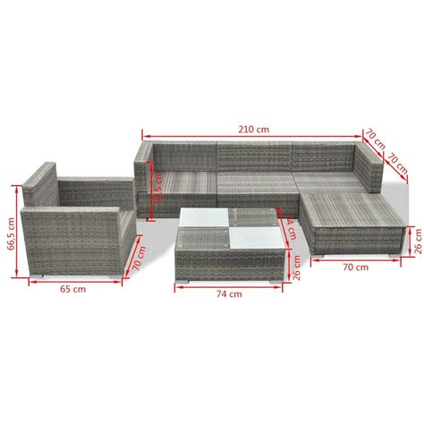 vidaXL conjunto sofás de jardín 17 piezas ratán sintético ...
