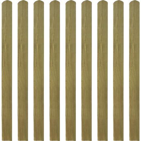 vidaXL listones de madera impregnados para cercado 10 uds ...