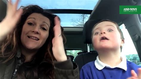 Video goes viral: mums  Down s syndrome doing carpool ...