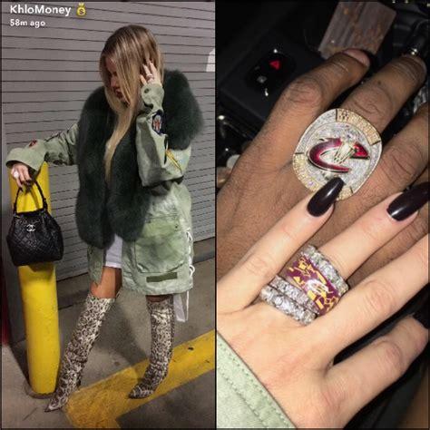 Video: Khloe Kardashian Snapchats Tristan Thompson Ring ...