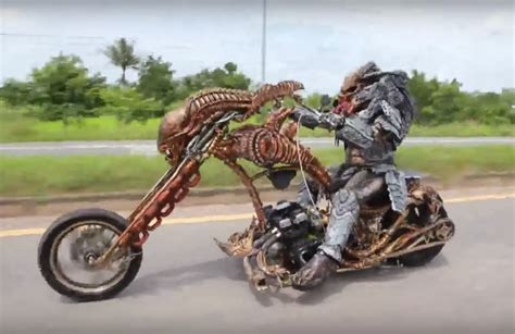 Video Of Cosplayer Dressed As A Predator Riding A ...