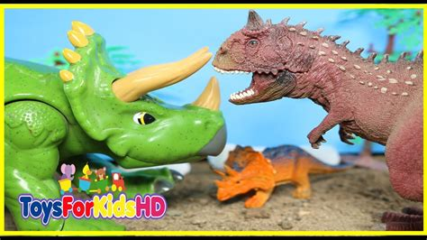 Videos de Dinosaurios para niños Carnotauro v/s ...
