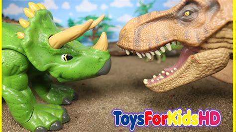 Videos de Dinosaurios para niños ???? Tyrannosaurus Rex v/s ...